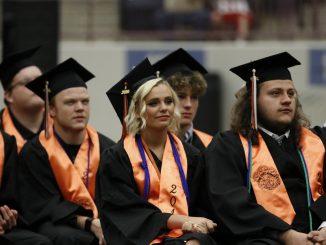 Lynn Camp students seated at graduation.