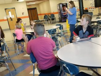 Students at Lynn Camp are shown engaged in an activity during summer camp provided by the family resource center.
