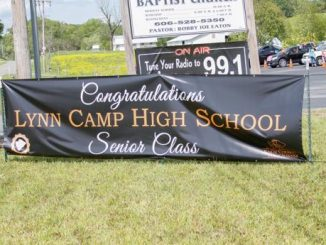Sign in front of Poplar Grove church wishing LC class well.